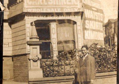 Carl Shirek on Sanson St.