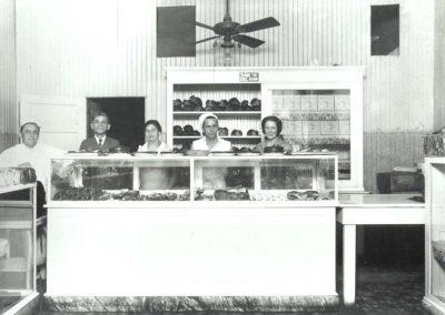Dallas Bakery at 1831 South Harwood, c. 1930. Abe Silvergold, Hyman, and Ida Weinstein, Lorraine Todd